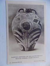 Knossos Minoan Amphora Greece Vintage Old Unposted Postcard