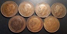 Royaume-Uni - George V - lot de x7 monnaies de 1912 à 1936 qualité !