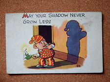 R&L Postcard: Artist ES, Pictorial Productions, Leeds, Shadow/Chamberstick