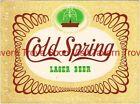 Unused 1950s MINNESOTA Cold Spring Lager Beer Label Tavern Trove