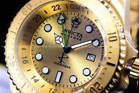 Invicta Men 52mm Reserve Hydromax 24K Gold Swiss Movement 1000M Diver SS Watch