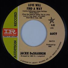 JACKIE DeSHANNON: Love Will Find A Way USA Imperial Promo 45 Soul 45
