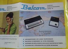 Ancien Document Fascicule Systèmes d'intercommunication vintage série 75