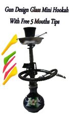 "Mini Hookah Gun style with flowers 8"" - choose color and send message"