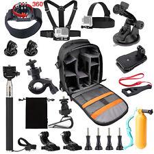 Travel Backpack Accessories Kit Set for Gopro hero HD 5 4/3/2/1 SJCAM SJ4000 H9R