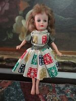 Antique 1950s Uneeda Suzette Rubber Doll 10 inch Marked Fully Jointed