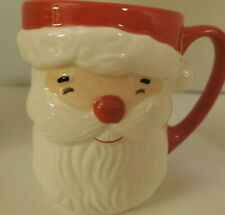Martha Stewart Collection Christmas Santa Coffee Mug CUP Holiday Ceramic