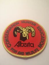 Vtg Alberta Fish And Wildlife Conservation Hunter Education Patch Hunting AB
