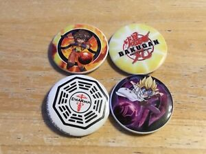Bakugan Comic Button Badges
