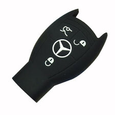 Car key silicone cover case for Mercedes-Benz S/E series SLK CLS ML GL Black