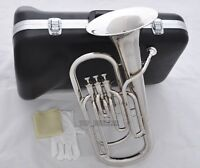 High-Grade New Silver Nickel 3 Piston Baritone Horn Bb Keys Wtih Case