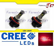 CREE LED 30W 9008 H13 RED TWO BULB HEAD LIGHT QUALITY REPLACE SHOW LAMP COLOR