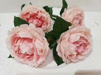 Shabby Chic Easter Pink Floral Rose Napkin Rings NEW Set of 4
