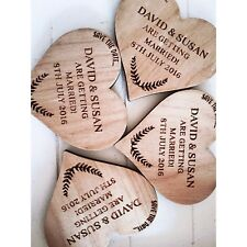 Save the date Wooden Heart Magnets x30 40 50  - Wedding  Birthday  Parties