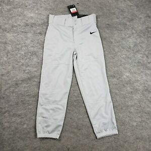NEW Nike Boys Baseball Pants L Uniform Gray Sport Training Practice Pants Youth