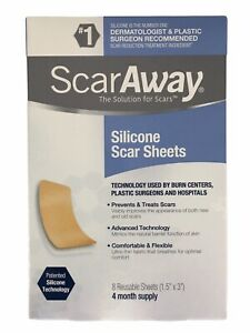 SCARAWAY Silicone Scar Sheet x 1 Sample Trial Sheet - Reusable And Washable