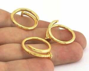 Adjustable Nail Ring Gold Plated Brass Women fashion jewelry handmade artisan