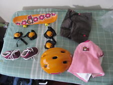 American Girl outfit Terrific Sk8 Girl board Knee Elbow Pads helmet