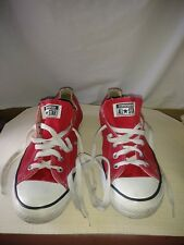 Convers All Star Mens Red Canvas Tennis Shoes Size 9