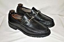 Gucci Men's Horse-Bit Lug Sole Black Leather Loafers UK 8.5 US 9D