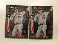 Lot Of 2 2020 Topps Chrome Update MIKE TROUT #U-69 Anaheim Angels All-Star Game