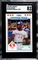 1986 Donn Jennings #13 Bo Jackson Minor League All Star SGC 8