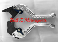 SV650 Katana 600/750 Short Silver & Blue Adjustable PAZZO Brake/Clutch Levers