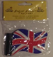 Oro Olímpico GB Union Jack Bandera Mini Coche Antena Aérea Topper incluye Reino Unido P&p