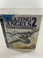 Blazing Angels 2 Secret Missions of WWII PS3 Sony PlayStation 3 Disc Case Tested