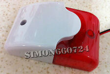 RED 12 Volt Security Alarm Strobe Siren Red 110db ABS Flashing Light 300mA
