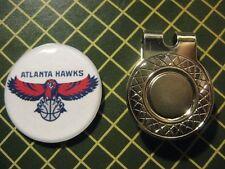 GOLF / Atlanta Hawks Logo Golf Ball Marker/with Magnet Hat Clip New!!