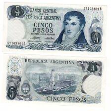 Argentine ARGENTINA Billet 5 PESOS 1974-76 P294 NEUF
