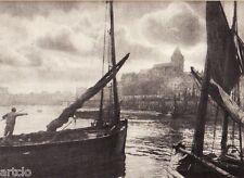 """Héliogravure - 1926 - """" Le port """"  par René Lamarre"""