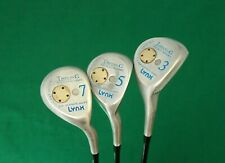Ladies Vintage Set of 3 x Lynx Tigress G Woods 3,5 & 7 Ladies Graphite Shafts