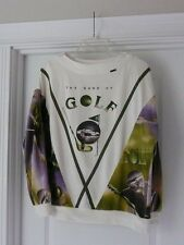 Ladies Golf Shirt Top Pullover Blouse Sweat Shirt Pebble Beach The Game of Golf