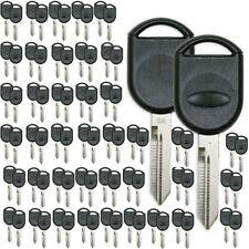 100 PCS Transponder Key Shell for Ford Flex Lincoln Mercury Uncut Key 01-2020