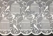 CHEAP LUXURY BIRDCAGE WHITE NET CURTAIN & CAFE NET ~ Many Sizes - Sold by Meter