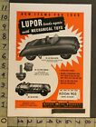 1949 TOY AD VEHICLE AUTO ROAD MASTER HOT ROD CAR MECHANICAL LUPOR METAL NY TK73