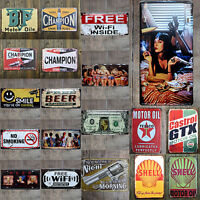 Vintage Metal Tin Sign Poster Plaque Bar Pub Club Wall Home Decor 20x30 cm