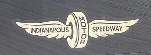Indianapolis Motor Speedway Gold Wings Wheel Decal Indy 500 Brickyard 400 Nascar