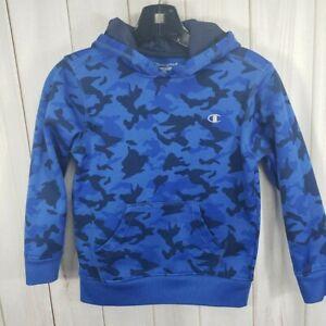 Champion Boys 7 8 Camo Hoodie Sweatshirt Blue