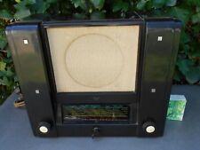 Rare ancienne TSF radio à lampes ORADYNE ORA en bakélite brune 1935, bon état.