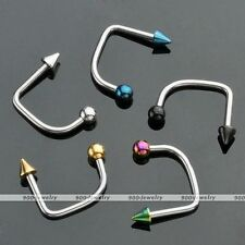 5x Mix Stainless Steel 16G Ball Lippy Loop Lip U Bar Barbell Monroe Labret Ring