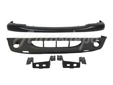 FOR 2001-2004 DAKOTA FRONT BUMPER UPPER BLACK LOWER TXT VALANCE BRACKET 4PCS