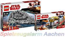 LEGO ® Star Wars First Order Star Destroyer 75190 75176 Resistance Transport Pod