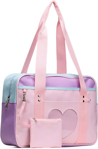 Ita Bag Heart Japanese Bags Kawaii Large Shoulder Anime Purse Pink Straps NEW