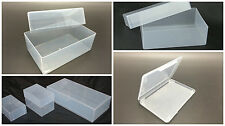 25 x Plastic Boxes Stationery Business cards A4 A5 A6 DL PLAYING CARDS ETC