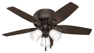 """Hunter 51078 42"""" Ceiling Fan Newsome Premier Bronze"""