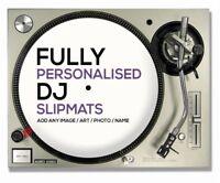 "1 Pair of Custom / Personalised 7"" DJ Turntable Slipmats ( YOUR IMAGE / LOGO )"