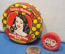 Negro Hair Pomade Tins ~ Lucky Brown + Sweet Georgia Brown 1930's